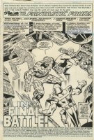 Fantastic Four 213 pg 1 Splash Original Art (Marvel, 1979) Terrax vs Marvel's First Family