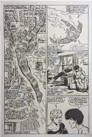 Fantastic Four Annual 17 pg 18 (Marvel, 1983) Half-Splash, Large Art
