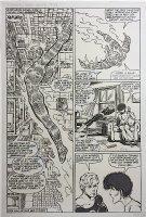 Fantastic Four Annual 17 pg 18 (1983) Half-Splash, Large Art Comic Art