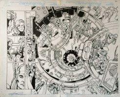 Avengers 20 pgs 2-3 Double Spread (1999) Comic Art