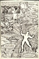 Marvel Two-In-One 58 pg 5 Splash Original Art (Marvel, 1979) 1st App Aquarian, 1st App Nth Man, Project P.E.G.A.S.U.S