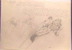 Ronin Rocketeers Presentation Poster Original Art   Comic Art