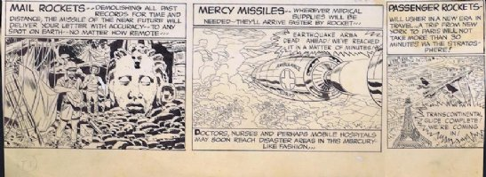 Sky Masters Sunday bottom section Original Art  Comic Art