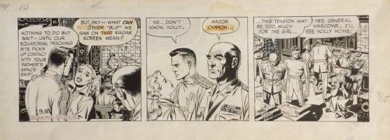 Sky Masters Daily Original Art (1958) Early, Excellent & Wally Wood inks!  Comic Art