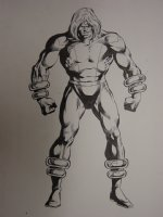 Official Handbook of the Marvel Universe Tower Pin-Up Original Art  Comic Art