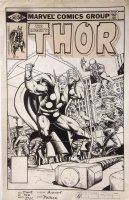 Thor 302 Cover Original Art (Marvel, 1980) Large Thor, Hammer