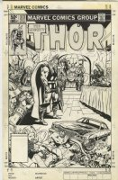 Thor 313 unused cover Original Art (Marvel, 1981) Thor, Odin in Asgard
