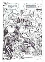 Amazing Spider-Man Annual 1 Mysterio Splash recreation Comic Art