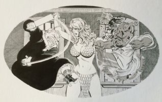 Cerebus - Marital Bliss Original Art (2010) Sophia as Red Sonja! Comic Art