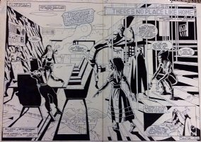 Justice League of America 247 pgs 2-3 Double Page Spread (1986)  Comic Art