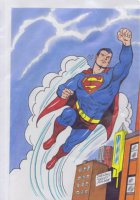 Superman Color Drawing Original Art  Comic Art