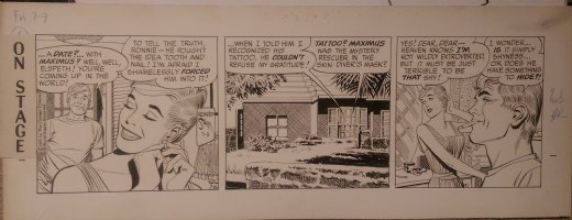 On Stage Daily July 9, 1965 Mary Perkins Comic Art