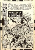 Avengers 32 Cover (Marvel, 1966) Twice-Up Early Team Battle Cover