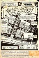 Justice League of America 199 pg 1 splash (1982)  Comic Art