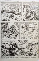 Avengers 206 pg 11 Original Art (Marvel, 1981) Cover Scene