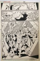 Justice League International 10 pg 9 Splash Original Art (DC, 1988) 2/3 Splash Classic Team