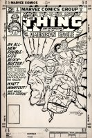Marvel Two-In-One Annual 6 Cover Original Art (Marvel, 1981) 1st Appearance American Eagle, RARE Walt Simonson Cover Art
