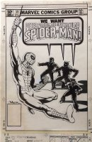 Peter Parker Spectacular Spider-Man 59 Cover Original Art (Marvel, 1981) Homage ASM 10, vs Beetle, Gibbon