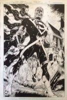 Blackest Night: Superman 1 pg 10 Splash Original Art (DC, 2009) 1st Black Lantern Superman
